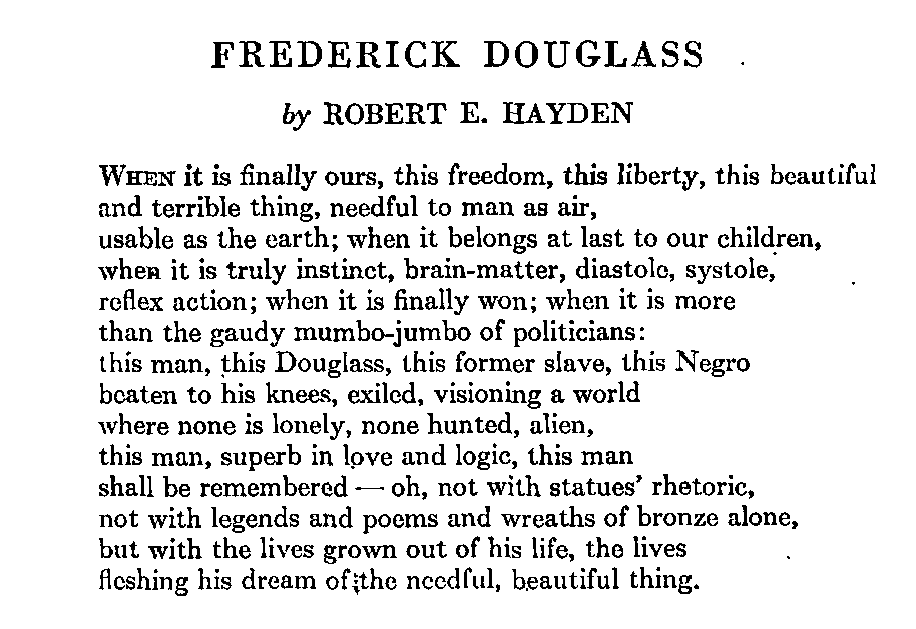 an introduction to the essay on the topic of fredrick douglass View notes - intro, arguments and topic sentences for frederick douglass essay from eng 0002 at tufts english 1 november 7, 2012 intro: in my 1845 autobiography.