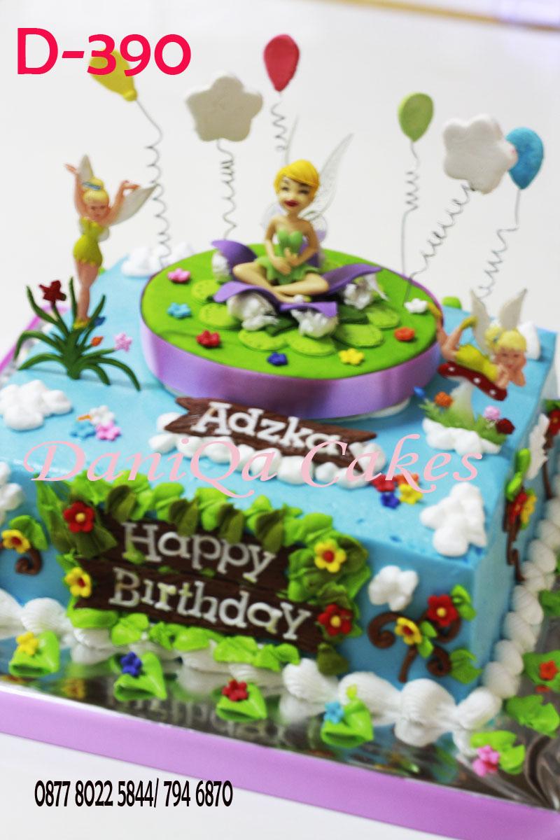 Daniqa Cake And Snack Tinkerbell Birthday Cake