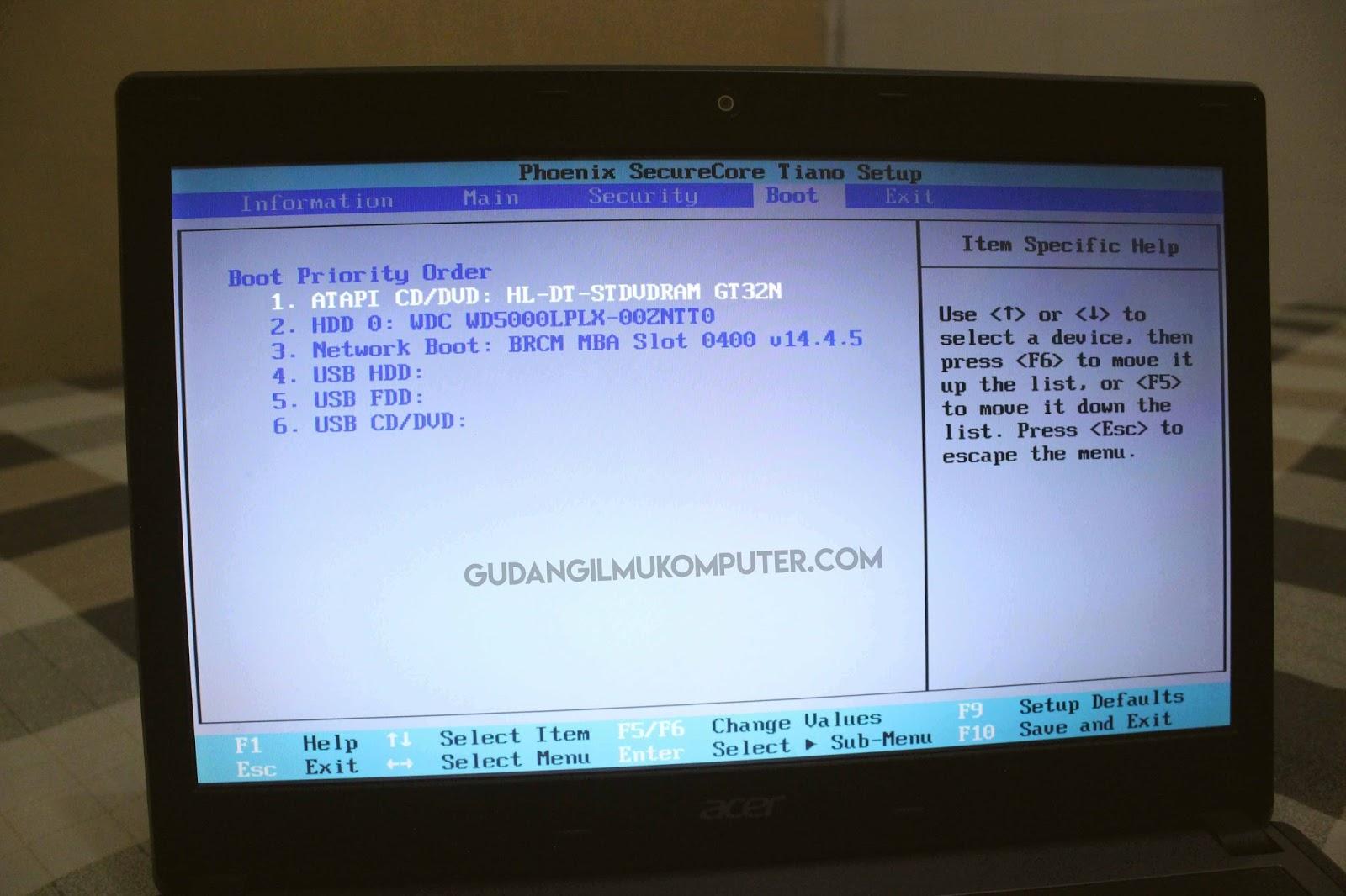 Mengatur Booting pada BIOS