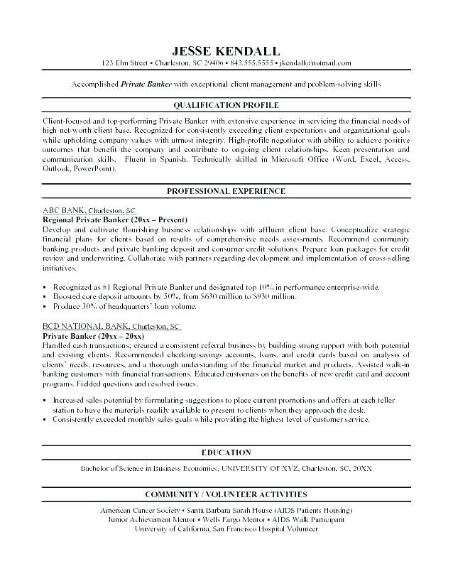 Personal Banker Resumes - Lebenslauf Vorlage Site