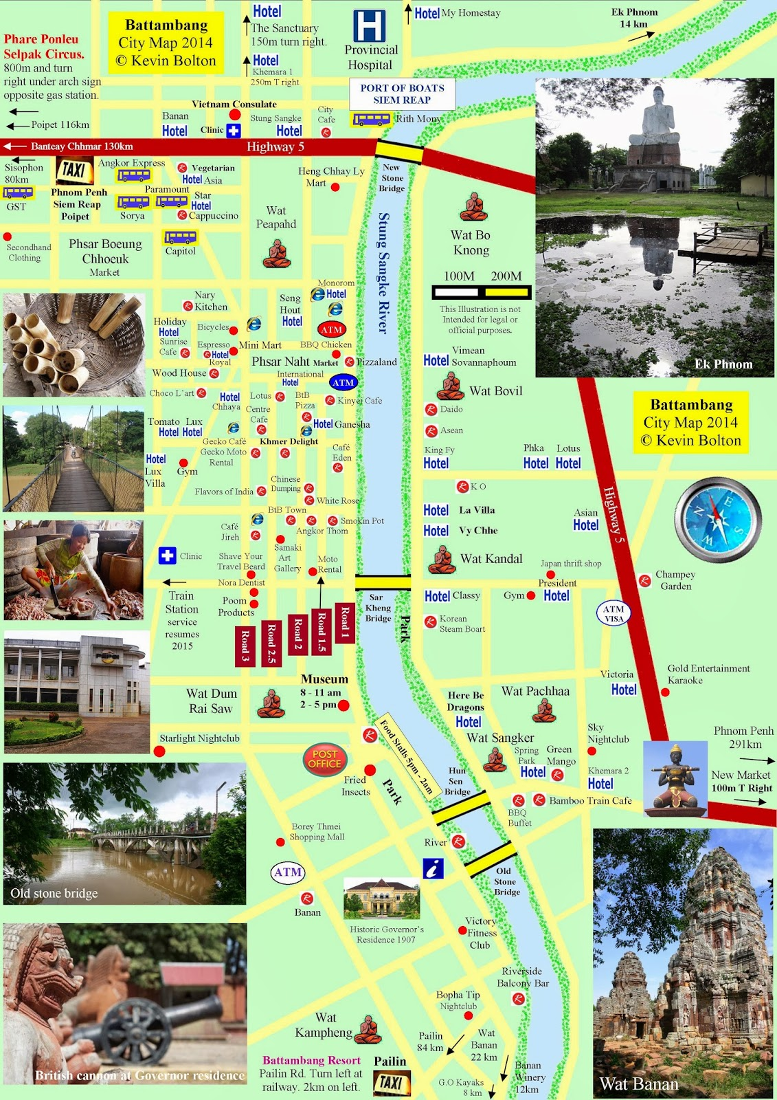 All About Battambang – Cambodia Tourist Attractions Map