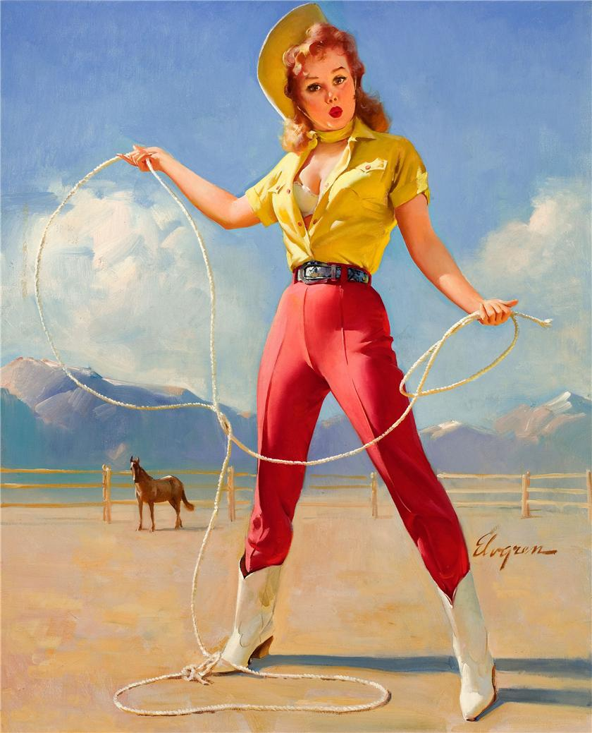 what i learned from gil elvgren about composition ~ the art of fantasio