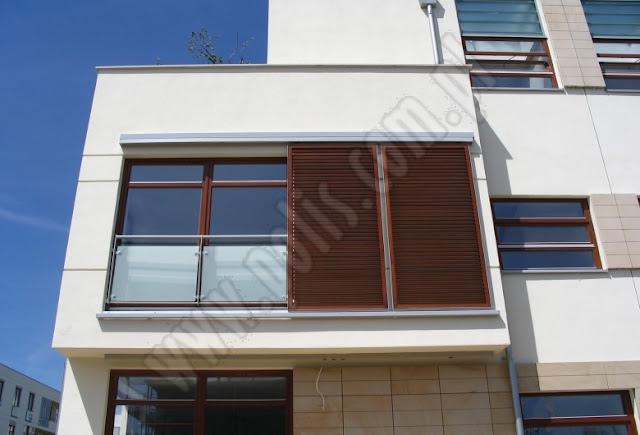 okiennice przesuwne drewniane, okiennice fasadowe, łamacze światła,