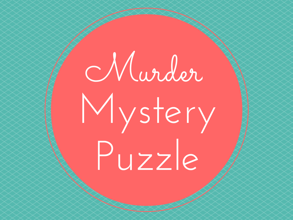 Murder Crime Detective Mystery Puzzle
