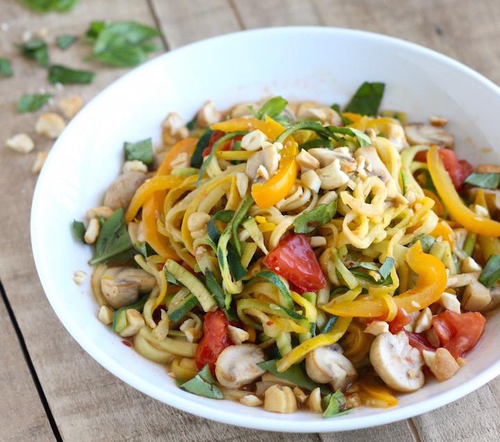 Zucchini Noodle Stir-Fry recipe by SeasonWithSpice.com