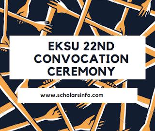 EKSU 22nd Convocation Ceremony Programme Of Events