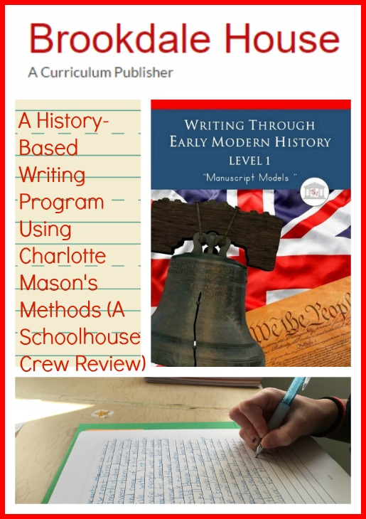 Review of Brookdale House Writing Through History Homeschool Writing Curriculum