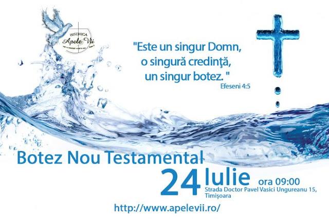 Botez la Biserica Apele Vii din Timisoara - 24 iulie 2016