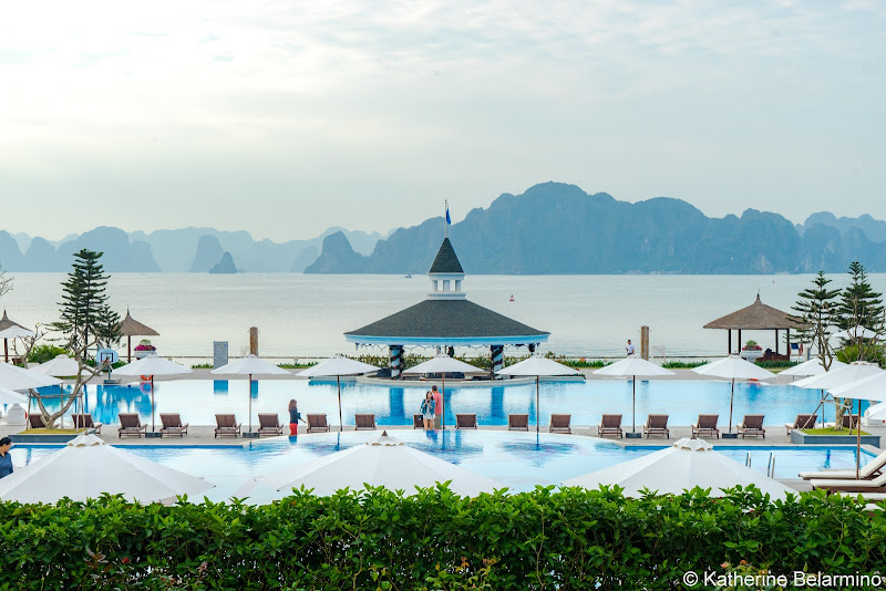 Hanoi Side-Trip to Ha Long Bay in 24 Hours Vinpearl Ha Long Bay Resort Pool