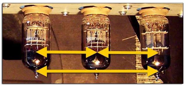 Intercambio de Posición de las Válvulas del Amplificador para Comprobar su Comportamiento