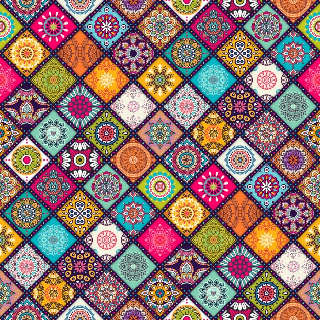 Background with mandalas Free Vector