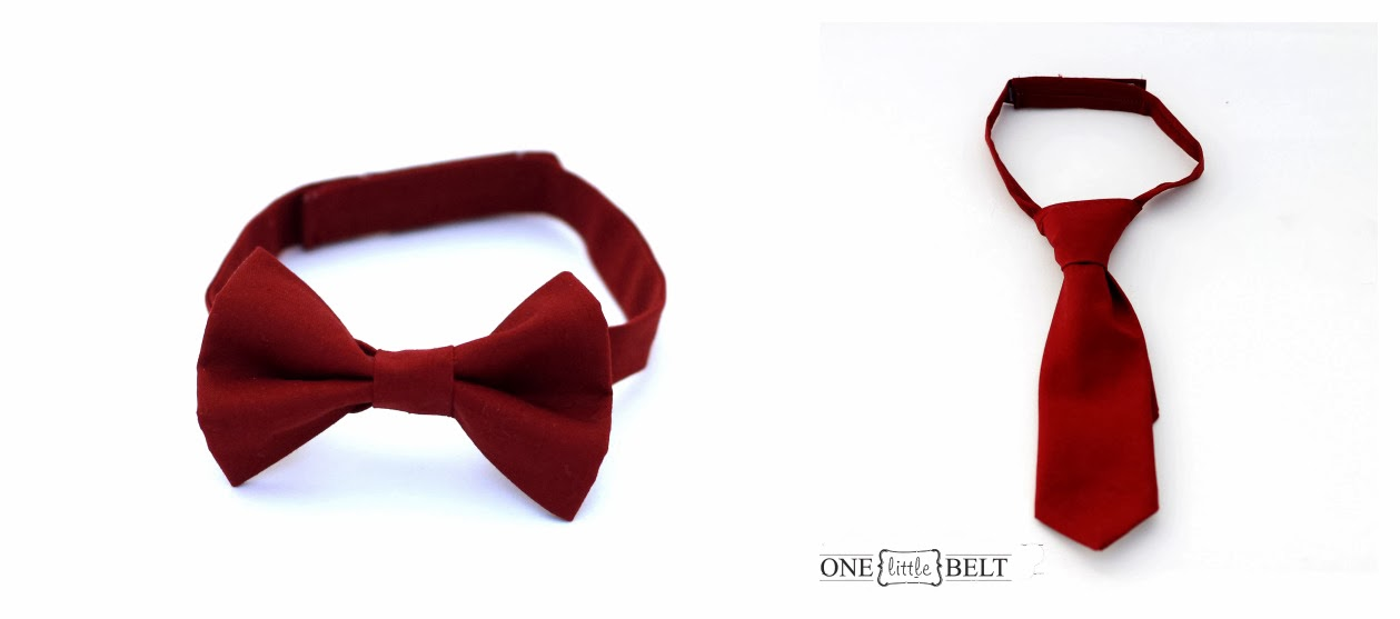 Oxblood Red Ties for Babies and Toddlers from ONE little BELT