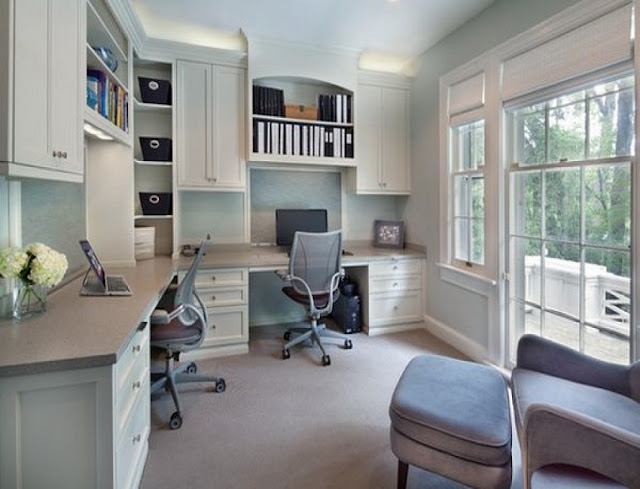 best custom dual desk for home office sets with filing cabinets