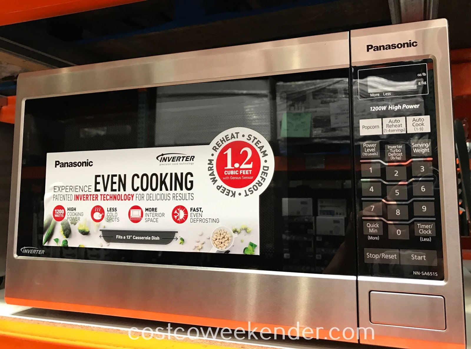 Panasonic Stainless Steel Microwave