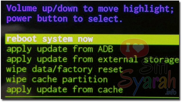 Android selalu masuk recovery mode