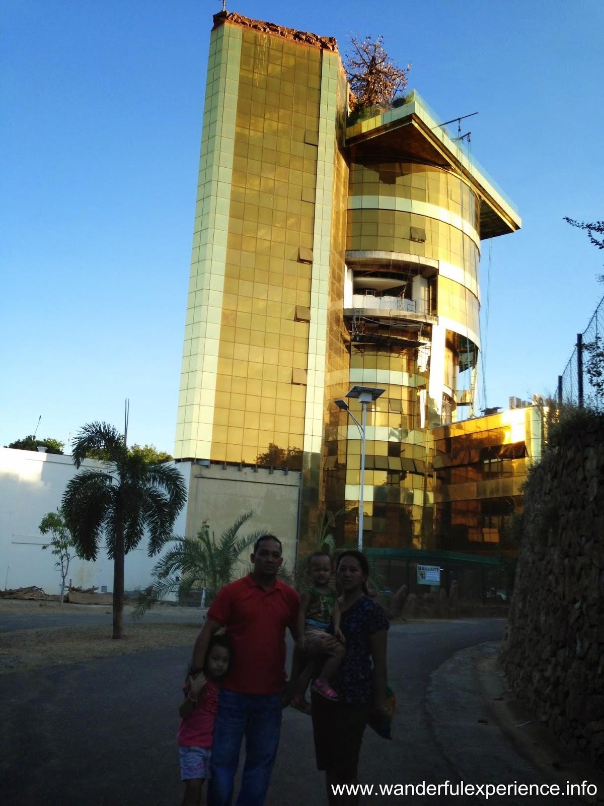 Golden building of Cong. Chavit Singson inside Baluarte