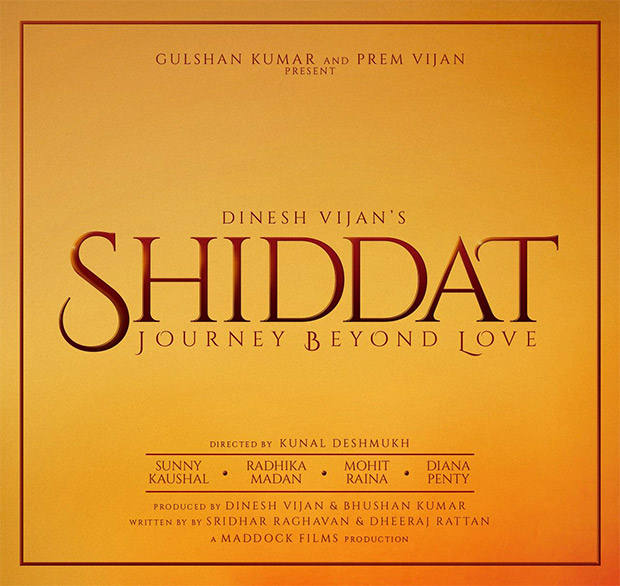 Shiddat – Journey Beyond Love new upcoming movie first look, Poster of Sunny, Radhika, Diana and Mohit next movie download first look Poster, release date