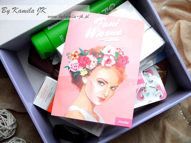 Shiny Box Pani Wiosna Edycja marzec 2017 pudełko kosmetyki zawartość