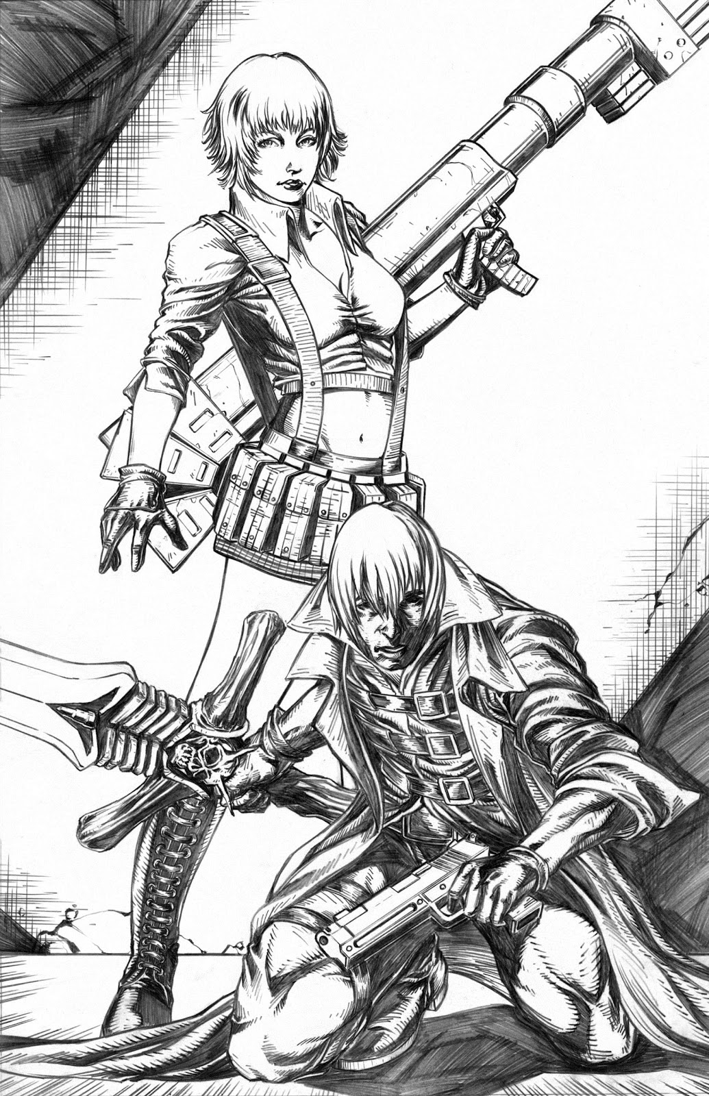 devil may cry coloring pages - photo#45