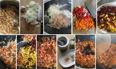Zubereitung Chili sin carne