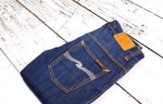 Nudie Jeans Thin Finn Org.Dry Ecru Embo Men Jeans Size 27/32
