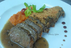 Roasted beef with bread Herbs crust recipe