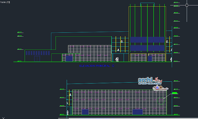 Communication center in AutoCAD