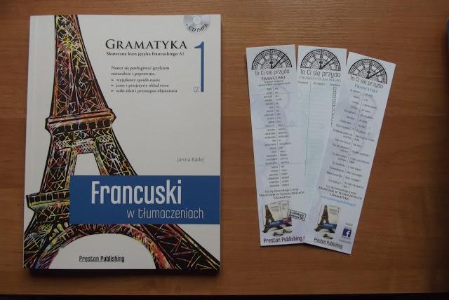 """Recenzje #1 - """"Francuski w tłumaczeniach cz.1"""" - nagłówek - Francuski przy kawie"""