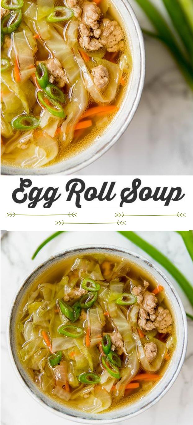 Paleo Egg Roll Soup #paleo #diet