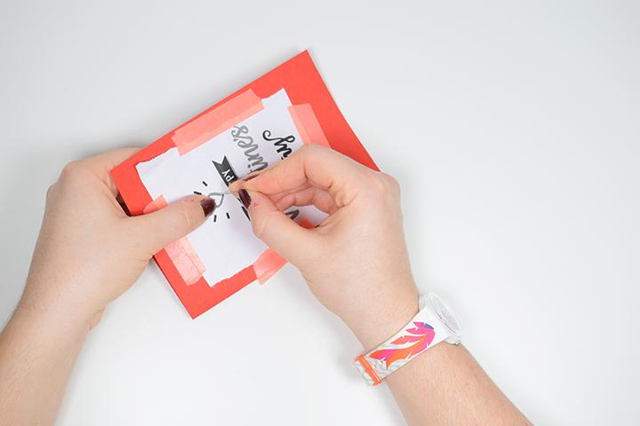 Etape 3 bis DIY broder une carte de saint valentin