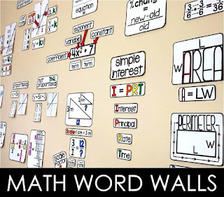 math word wall ideas
