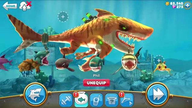 cheat hungry shark world terbaru