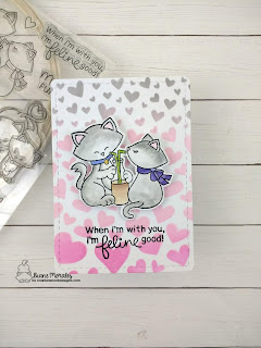 Feline Good a card by Diane Morales | Newton's Sweetheart Stamp Set by Newton's Nook Designs