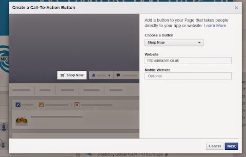 圖片說明: 臉書 Shop Now 功能按鍵設定頁面,圖片來源: ECNeu
