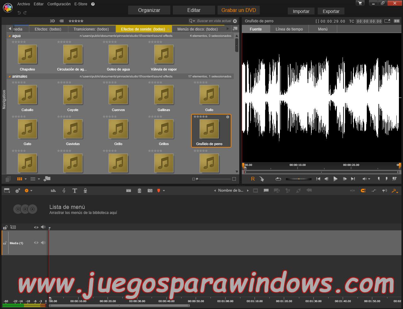 Pinnacle Studio Ultimate v18.0.1 Multilenguaje ESPAÑOL (CORE) 13