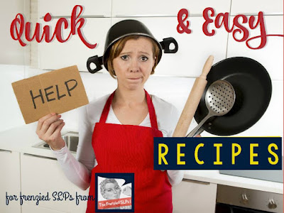 Ideas for quick, easy meals for your frenzied weeknights! www.speechsproutstherapy.com