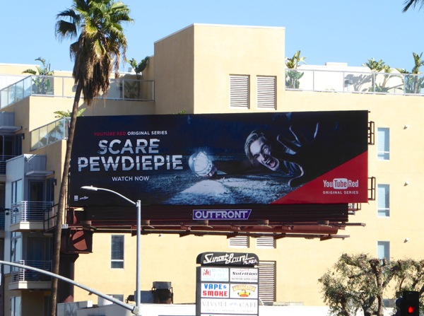 Scare PewDiePie YouTube Red TV billboard