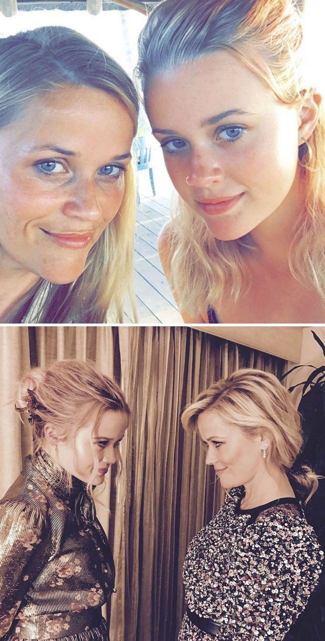 8 – Atriz Reese Witherspoon (41) e sua filha Ava Phillippe (17)