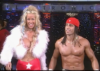 WCW Mayhem 1999 - Evan Karagious (w/ Madusa) faced Disco Inferno for the cruiserweight title