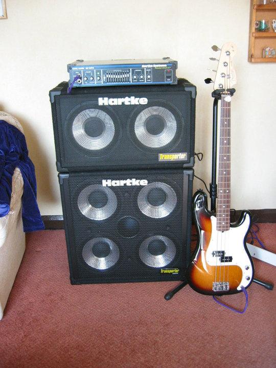 Hartke bass rig Ian Edmundson