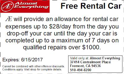 Coupon Free Rental Car May 2017