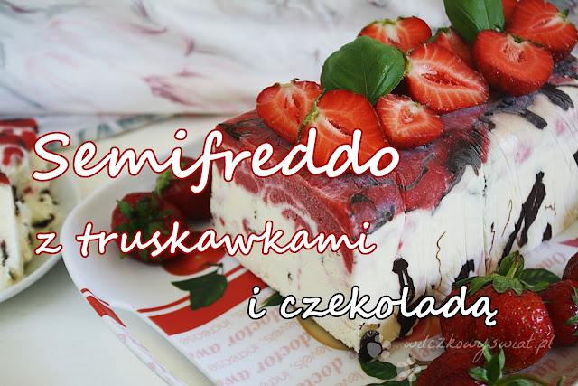 Semifreddo z truskawkami i czekoladą