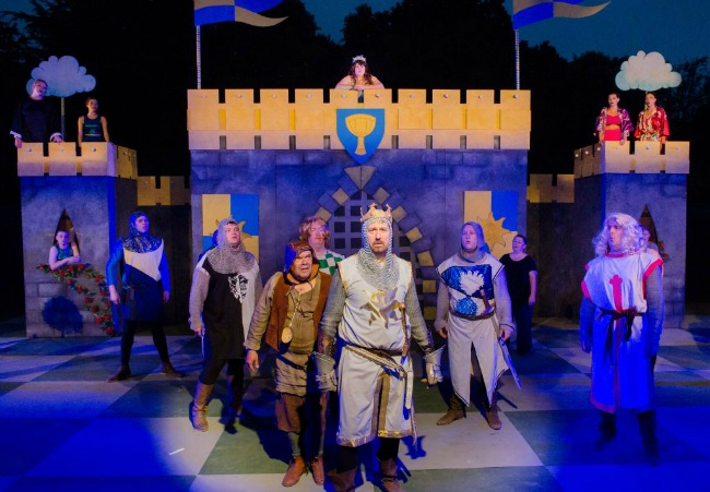 Spamalot-Cardiff-Open-Air-Festival-Everyman-Theatre-Productions-cast-king-arthur-doing-it-alone