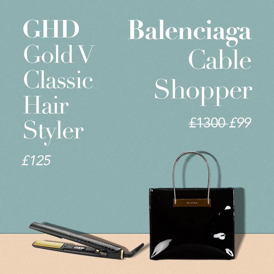 Balenciaga Cable Shopper or GHD Gold V Classic Hair Styler?