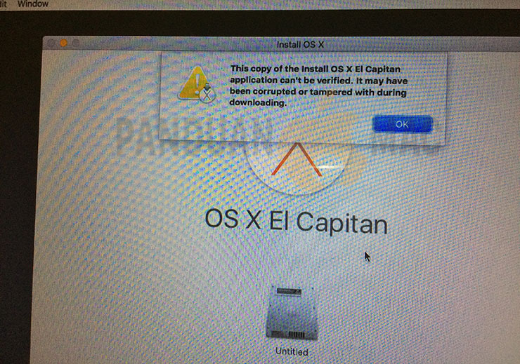 "Cara Mengatasi Error Install Mac ""this copy of the install OS X application can't be verified"""
