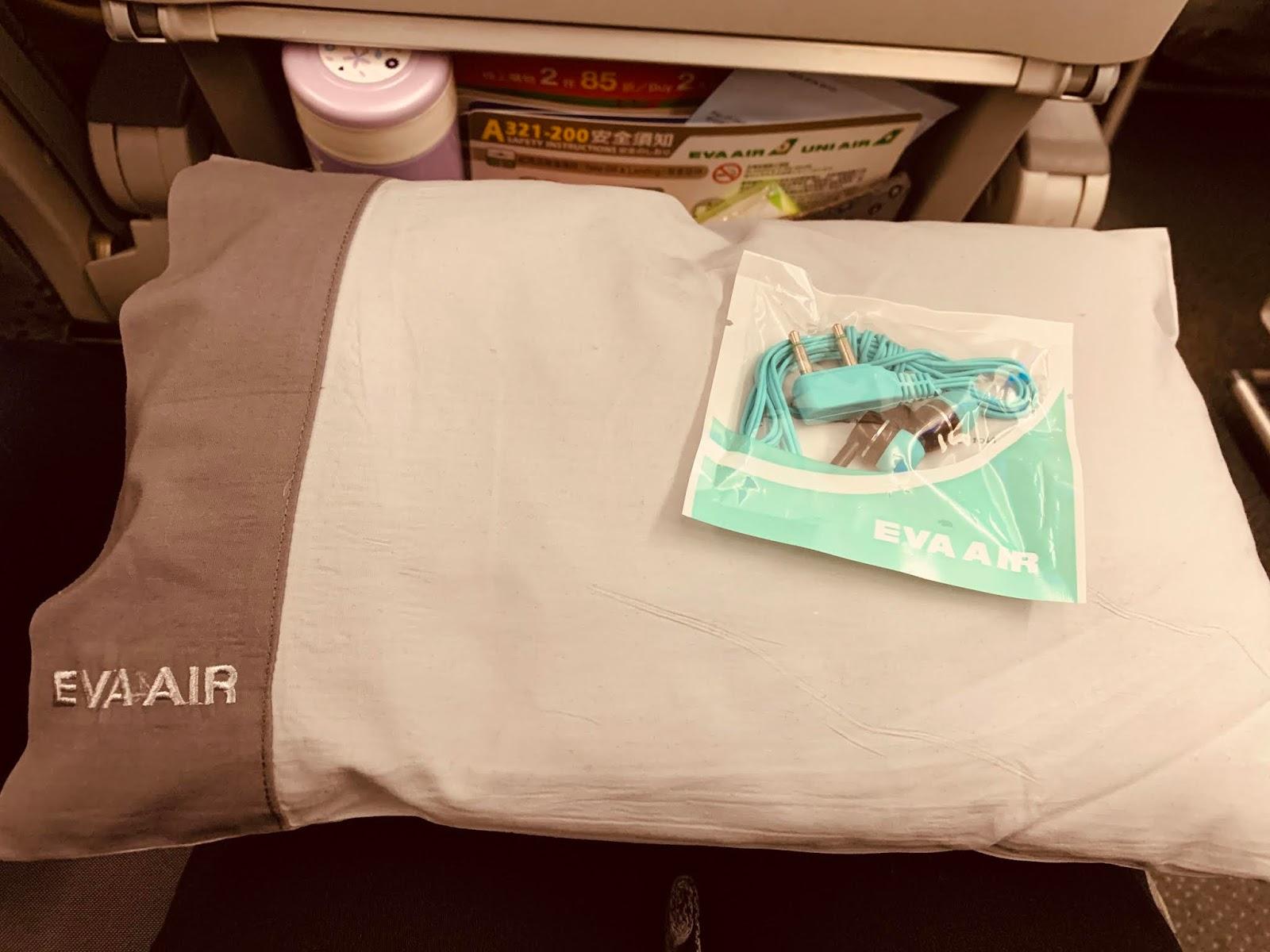 長榮航空-頸枕及耳機