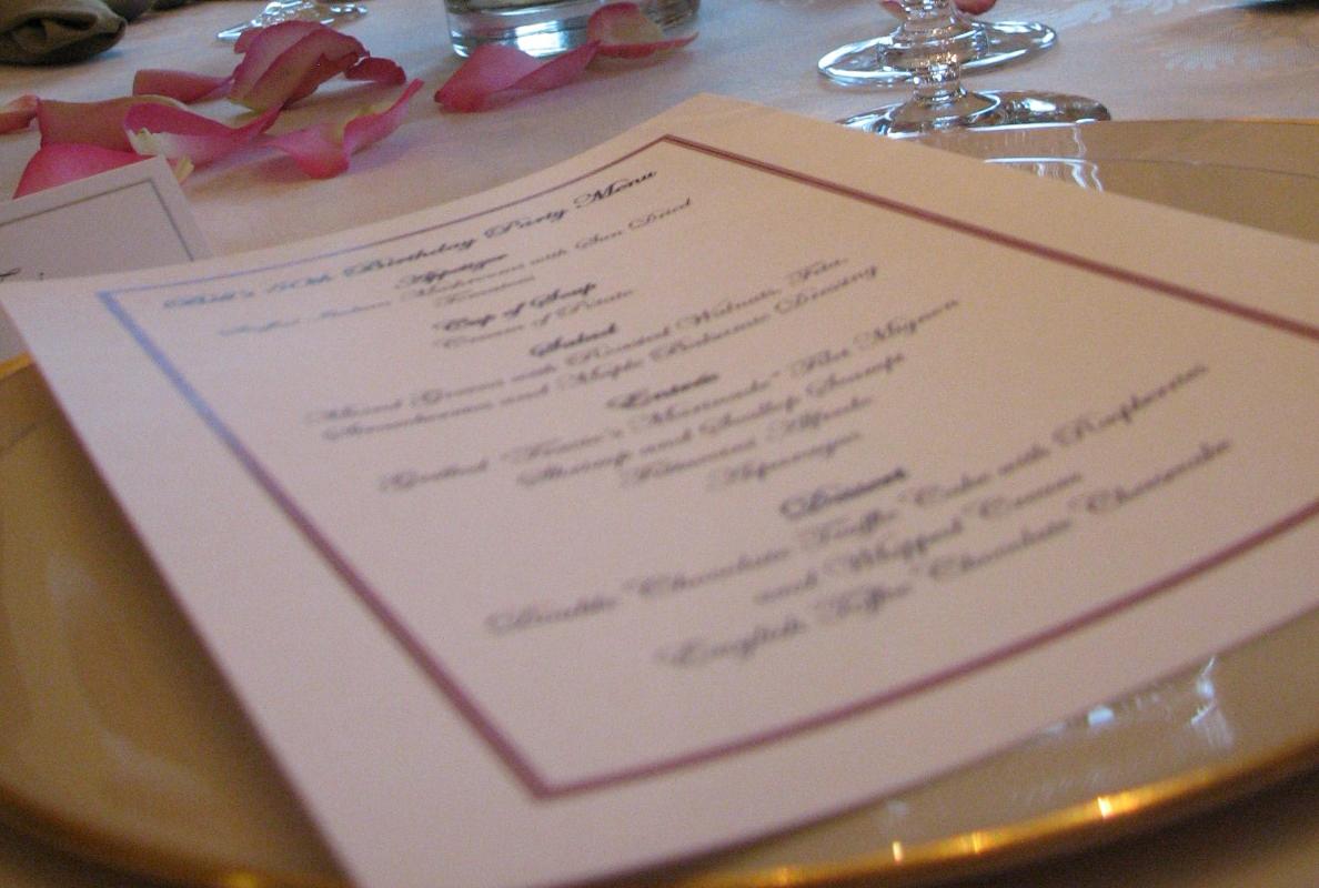 Qui n dijo boda el men o minuta del banquete de bodas - Como preparar una boda ...
