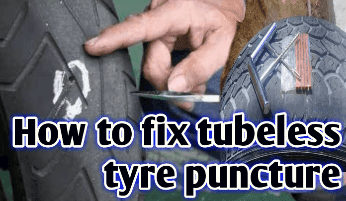 How to fix tubeless tyre puncture