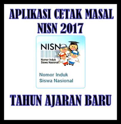Aplikasi Cetak Masal Kartu NISN 2017 Tahun Ajaran Baru
