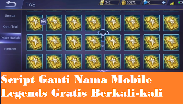 How to change Mobile Legends name for free with no diamond script